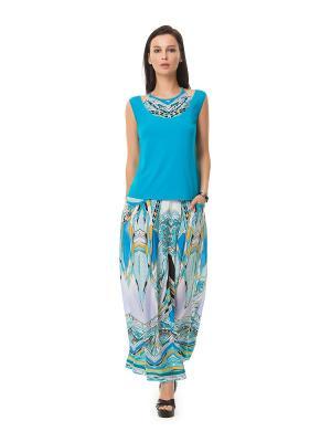 Блузка HELMIDGE. Цвет: голубой