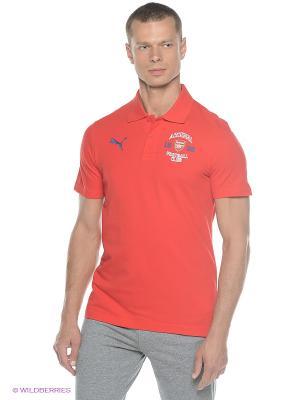 Футболка-поло AFC Fan Polo Puma. Цвет: красный