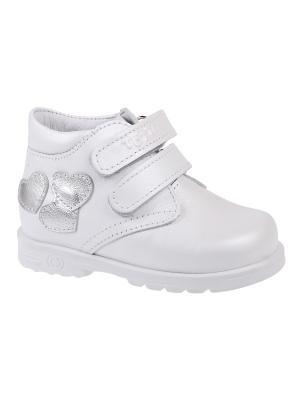 Ботинки Тотто. Цвет: белый