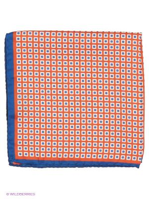 Платок-паше Troy collezione. Цвет: оранжевый, синий, молочный