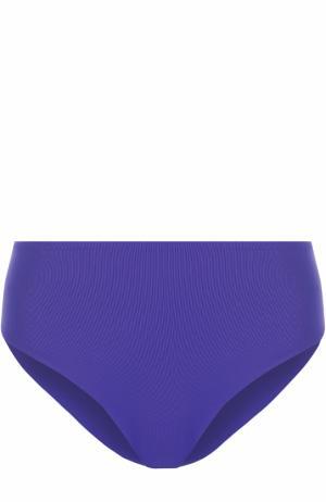 Плавки-бикини с завышенной талией Ritratti Milano. Цвет: синий