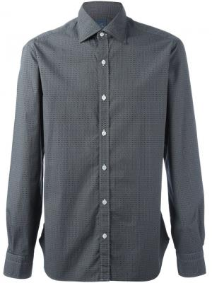 Рубашка с узором Barba. Цвет: чёрный