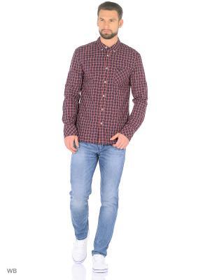 Рубашка MUSTANG. Цвет: темно-синий, белый, бордовый