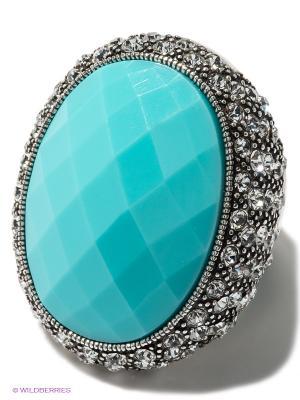 Кольцо Bijoux Land. Цвет: бирюзовый, серебристый