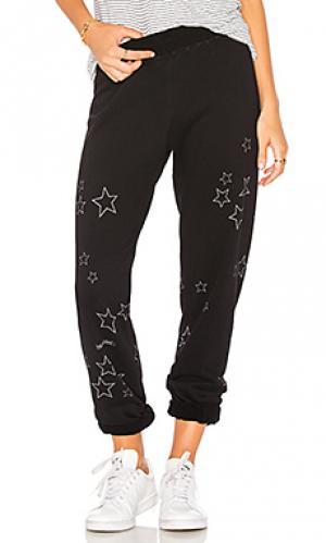 Спортивные брюки со звёздным принтом gia Lauren Moshi. Цвет: черный