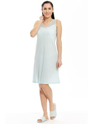 Ночная сорочка RELAX MODE. Цвет: светло-голубой