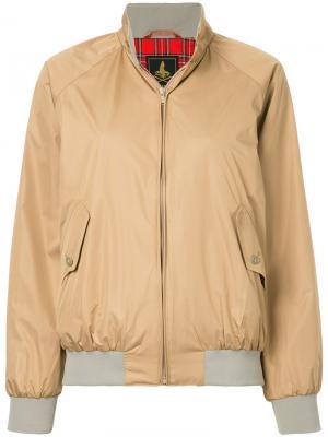 Куртка-бомбер с воротником-стойкой Hysteric Glamour. Цвет: телесный