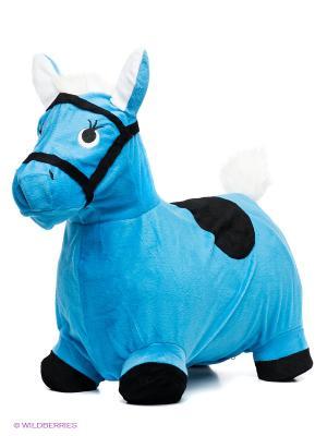 Лошадка-попрыгунчик Наша Игрушка. Цвет: голубой
