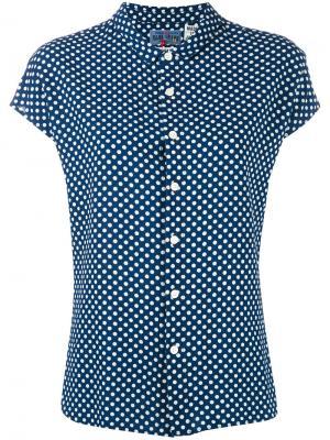 Рубашка в горох Blue Japan. Цвет: синий