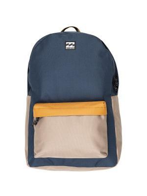 Рюкзак ALL DAY PACK BILLABONG. Цвет: темно-синий, бежевый, оранжевый