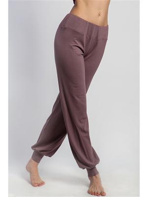 Штаны женские Классика yogadress. Цвет: светло-коричневый