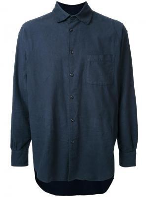 Фланелевая рубашка свободного кроя Gold. Цвет: синий