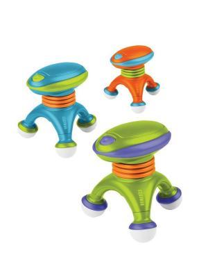 Вибрационный ручной массажер HoMedics. Цвет: зеленый, оранжевый, синий