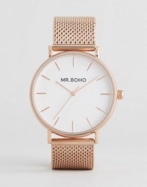 Mr Boho Часы цвета розового золота с сетчатым браслетом. Цвет: золотой