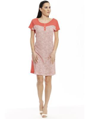 Ночная сорочка RELAX MODE. Цвет: оранжевый