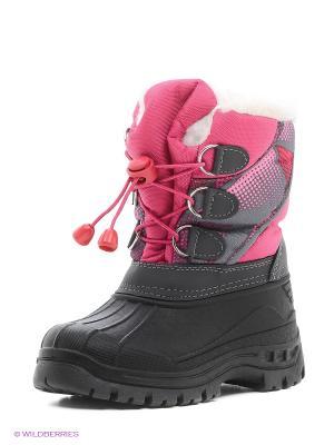 Полусапожки CentrShoes. Цвет: черный, розовый