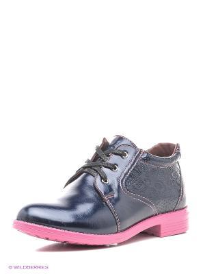 Ботинки San Marko. Цвет: темно-синий, розовый