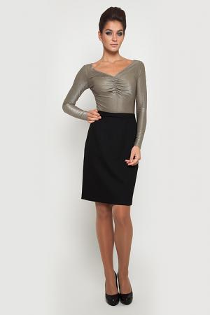Платье NVCollection. Цвет: золотой