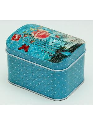 Коробка для безделушек и мелочей Собор Magic Home. Цвет: морская волна