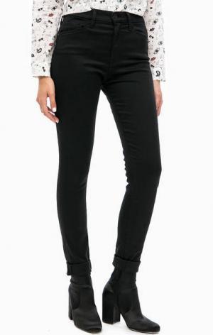 Зауженные брюки с завышенной талией Mavi. Цвет: черный