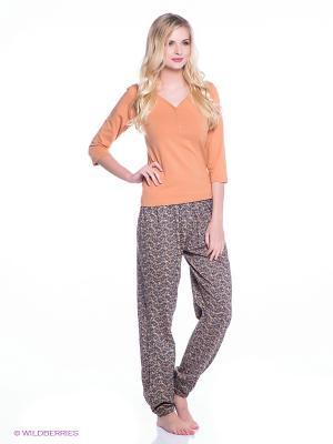 Комплект Alla Buone. Цвет: коричневый, оранжевый