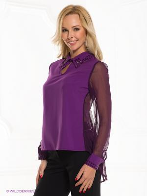 Блузка Esley. Цвет: фиолетовый