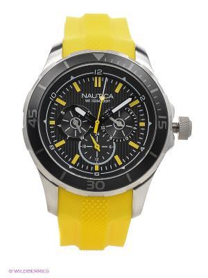 Часы Nautica. Цвет: желтый, серебристый