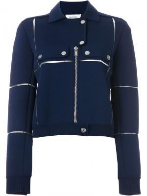 Байкерская куртка Courrèges. Цвет: синий