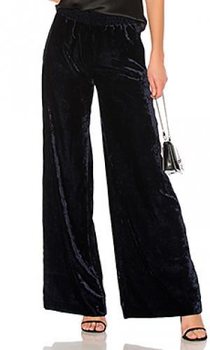 Широкие брюки harlow NILI LOTAN. Цвет: синий