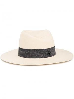 Соломенная шляпа Virginie Maison Michel. Цвет: телесный