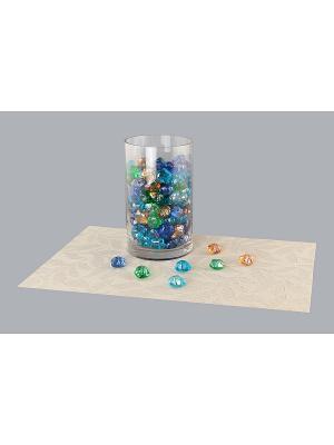 Набор декоративных камешков Цветок EL CASA. Цвет: синий, зеленый, коричневый, прозрачный, оранжевый