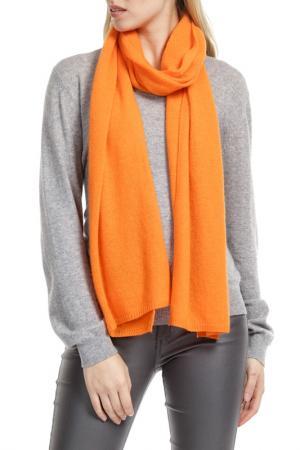 Шарф Scott & London Cashmere. Цвет: оранжевый