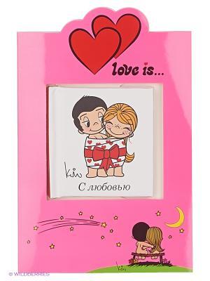 Love is. С любовью (книга+открытка) Эксмо. Цвет: лиловый