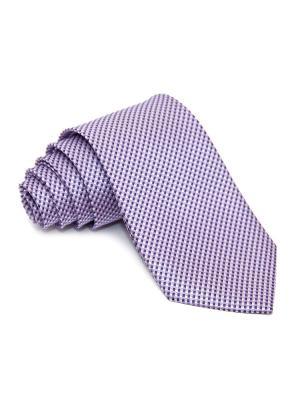 Галстук Churchill accessories. Цвет: темно-фиолетовый, сиреневый, лиловый, фиолетовый, белый