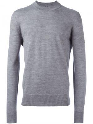 Джемпер с контрастными полосками сзади Oamc. Цвет: серый