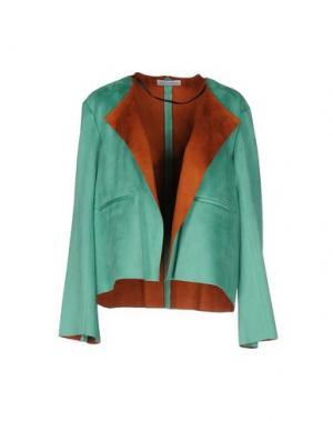 Пиджак WEILI ZHENG. Цвет: светло-зеленый