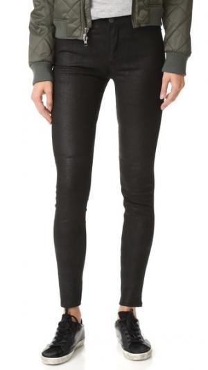 Кожаные брюки 22 BLK DNM. Цвет: голубой