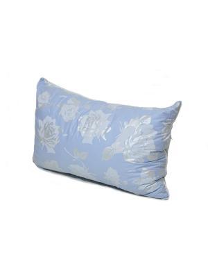 Подушка Лето Осень - двой-й чехол: ТИК. Наполн.: гречиха+бамбук 40*60 арт. О654 SMART-TEXTILE. Цвет: голубой