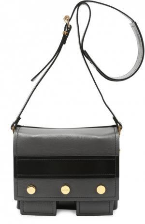 Кожаная сумка Bike Kenzo. Цвет: темно-серый
