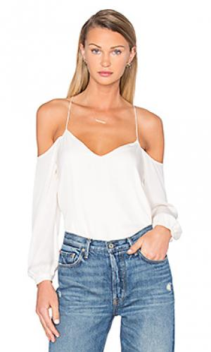 Блуза с длинным рукавом и вырезами на плечах Haute Hippie. Цвет: ivory