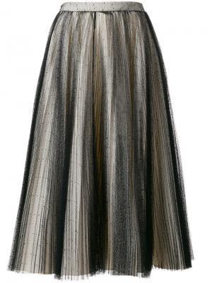 Юбка с отделкой из тюля Philosophy Di Lorenzo Serafini. Цвет: чёрный