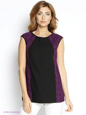 Блузка Vaide. Цвет: черный, фиолетовый