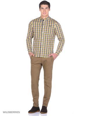 Рубашка Fred Perry. Цвет: желтый