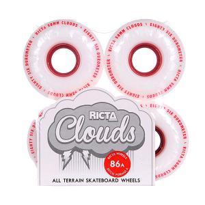 Колеса для скейтборда  Clouds Red 86A Ricta. Цвет: белый