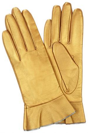 Перчатки Michel Katana. Цвет: золотистый