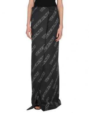 Длинная юбка VETEMENTS. Цвет: черный