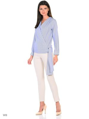 Блузка SARTORI DODICI. Цвет: синий