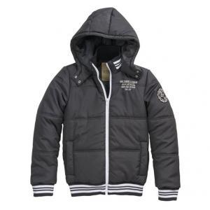 Куртка стеганая с капюшоном R teens. Цвет: черный