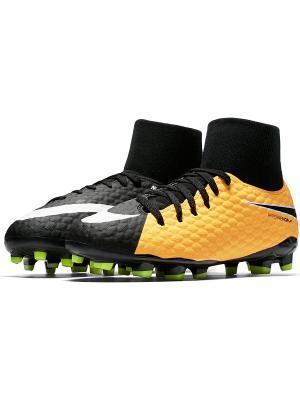 Бутсы JR HYPERVENOM PHELON 3 DF FG Nike. Цвет: оранжевый