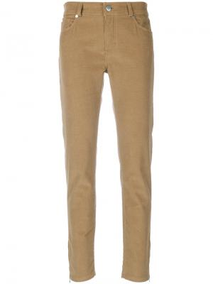 Укороченные брюки Loro Piana. Цвет: серый